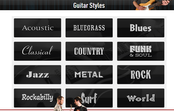 Choose A Style Of Guitar To Learn Guitar Lessons