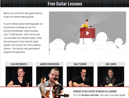 Free Guitar Lessons Learn To Play Guitar The Easy Way