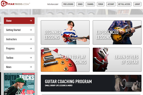Guitar Tricks Best Online Guitar Lessons